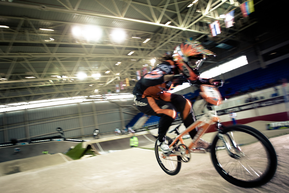 #75 (VAN BENTHEM Merle) NED at the UCI BMX Supercross World Cup in Manchester, UK