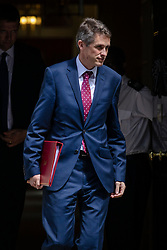 © Licensed to London News Pictures. 17/07/2018. London, UK. Defence Secretary Gavin Williamson leaves 10 Downing Street after the Cabinet meeting. Photo credit: Rob Pinney/LNP
