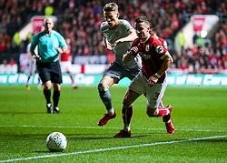 Joe Bryan of Bristol City is challenged by Scott McTominay of Manchester United - Rogan/JMP - 20/12/2017 - Ashton Gate Stadium - Bristol, England - Bristol City v Manchester United - Carabao Cup Quarter Final.