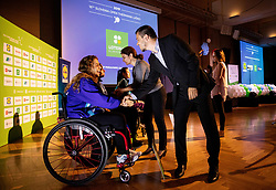 Tina Crotta and Tomas Varga during Closing ceremony at Day 4 of 16th Slovenia Open - Thermana Lasko 2019 Table Tennis for the Disabled, on May 11, 2019, in Thermana Lasko, Lasko, Slovenia. Photo by Vid Ponikvar / Sportida