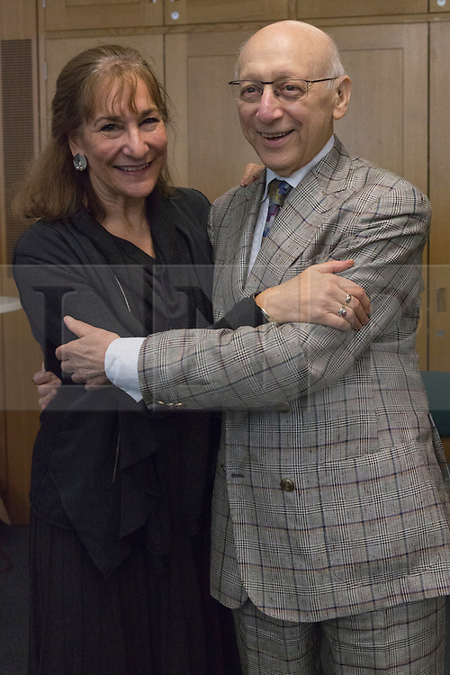 © Licensed to London News Pictures. 23/02/2015. London, England. Sir Gerald Kaufman, Chair of the All Party Dance Group, dances with Fern Potter of Dance UK.  MPs attend a dance class with members of Dance UK and Lindy Hop dancers. Dance UK launches the 2015 Dance Manifesto with a beginners' social dance class hosted by the All Party Parliamentary Dance Group for all MPs at Portcullis House and led by teacher Jenny Thomas, charleston choreographer for the BBC's Strictly Come Dancing with Strictly professional dancer Robin Windsor. Photo credit: Bettina Strenske/LNP