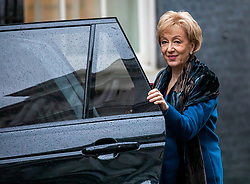 © Licensed to London News Pictures. 17/12/2019. London, UK. Angela Leadson Secretary of State for Business arrives at Downing Street for the first Cabinet meeting with Prime Minister Boris Johnson after winning the General Election. Photo credit: Alex Lentati/LNP