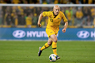 CANBERRA, AUSTRALIA - OCTOBER 10: Australian midfielder Aaron Mooy (13) dribbles the ball during the FIFA World Cup Qualifier soccer match between Australia and Nepal on October 10, 2019 at GIO Stadium in Canberra, Australia. (Photo by Speed Media/Icon Sportswire)