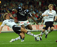 Fotball Tipeligaen Rosenborg ( RBK ) - Odd Grenland 6-0<br /> Vidar Riseth, Olivier Occean og Ørjan Berg<br /> Foto: Carl-Erik Eriksson, Digitalsport