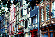 France, Normandy.  Rouen.  Half timbered houses.