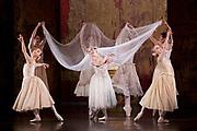 The Birmingham Royal Ballet <br /> Three Short Story Ballets (mixed Bill) <br /> at Birmingham Hippodrome, Birmingham, Great Britain <br /> Rehearsal 21st June 2017 <br /> <br /> Le Baiser de la f&eacute;e <br /> Choreography by Michael Corder<br /> <br /> Music: Igor StravinskyDesigns: John MacfarlaneLighting: Paule Constable<br /> <br /> <br /> <br /> Bride: <br /> <br /> Miki Mizutani <br /> <br /> <br /> <br /> <br /> <br /> <br /> <br /> Photograph by Elliott Franks <br /> Image licensed to Elliott Franks Photography Services