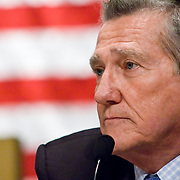 """John Lehman. Panel: Al Qaeda. The 9/11 Commission's 12th public hearing on """"The 9/11 Plot"""" and """"National Crisis Management"""" was held June 16-17, 2004, in Washington, DC."""