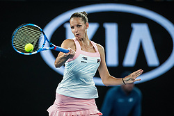 January 24, 2019 - Melbourne, VIC, U.S. - MELBOURNE, VIC - JANUARY 24: KAROLINA PLISKOVA (CZE) during day ten match of the 2019 Australian Open on January 24, 2019 at Melbourne Park Tennis Centre Melbourne, Australia (Photo by Chaz Niell/Icon Sportswire (Credit Image: © Chaz Niell/Icon SMI via ZUMA Press)