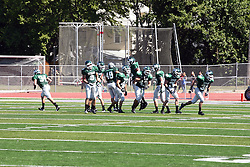 17 September 2011: Illinois Wesleyan football kickoff unit during an NCAA Division 3 football game between the Aurora Spartans and the Illinois Wesleyan Titans on Wilder Field inside Tucci Stadium in.Bloomington Illinois.