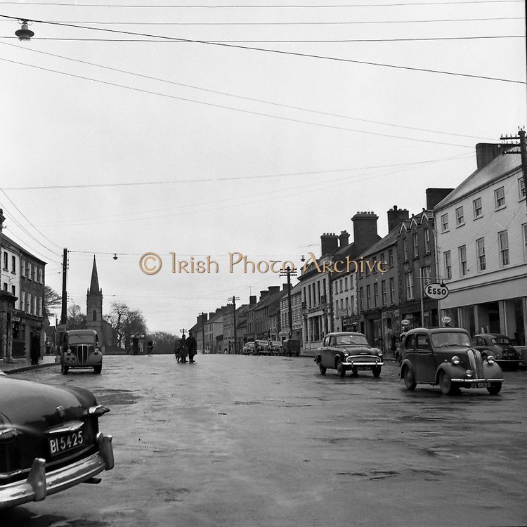 Towns in Ireland, Main Carrickmacross, Co. Monaghan.04/04/1957