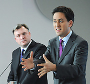 Labour Press Conference <br /> at Labour Press HQ, London, Great Britain <br /> 13th October 2011<br /> <br /> Rt Hon Ed Miliband MP<br /> Leader of the Labour Party<br /> Member of Parliament<br /> for Doncaster North<br /> <br /> The Right Honourable<br /> Ed Balls <br /> MP<br /> Shadow Chancellor of the Exchequer<br /> Member of Parliament<br /> for Morley and Outwood<br /> <br /> Photograph by Elliott Franks