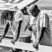 Day Two of the Aaron Jones Youth Football Camp, Sun Bowl Stadium, El Paso Texas July 22, 2017