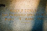 Alice B. Toklas grave, Père Lachaise Cemetery, Paris, France