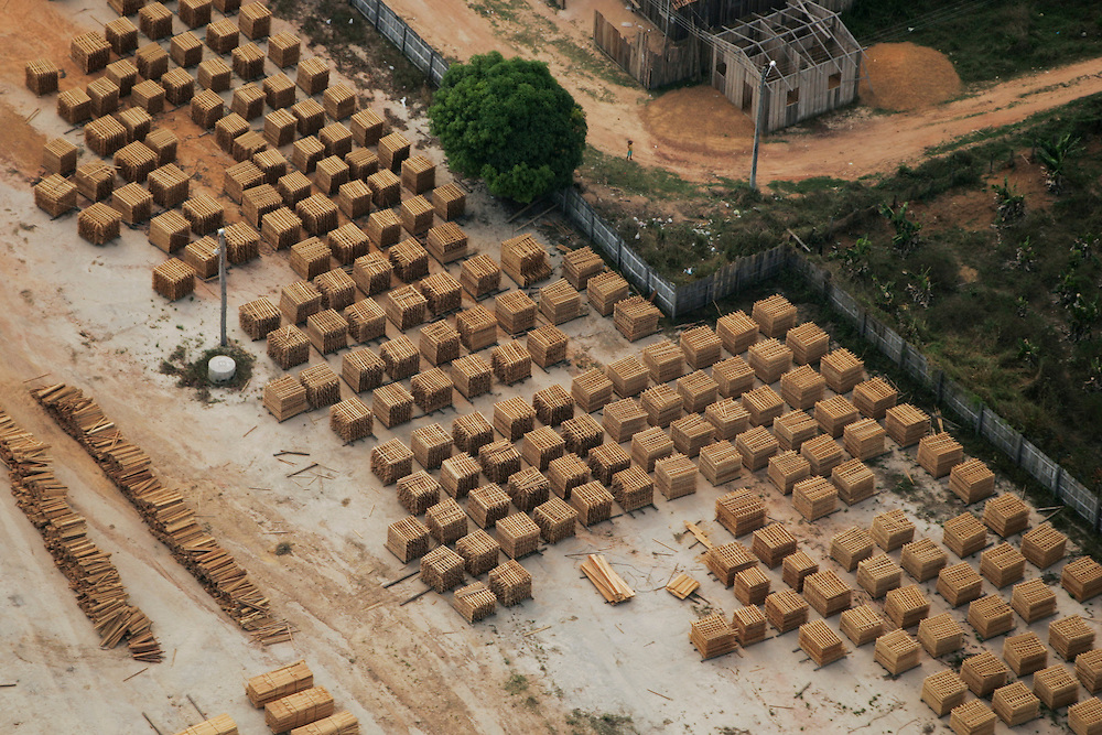 Aug. 21, 2005. Pallets of lumber outside a mill in Para State, Brazil.