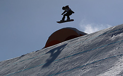 Canada's Laurie Blouin in the Ladies' Slopestyle Snowboard Final during day three of the PyeongChang 2018 Winter Olympic Games in South Korea.
