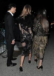 Millie Mackintosh and Zara Martin attend Julien Macdonald's London Fashion Week AW14 show at The Royal Courts of Justice in London, UK. 15/02/2014<br />