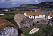 Glencolmcille (or Glemcolcille), where St Columba founded a important monastery. Here a traditional Irish village's reconstruction.