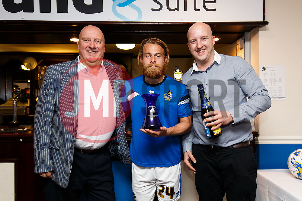 Post match pictures with Bristol Rovers Man of the Match Stuart Sinclair - Mandatory byline: Rogan Thomson/JMP - 07966 386802 - 12/09/2015 - FOOTBALL - Memorial Stadium - Bristol, England - Bristol Rovers v AccringtonStanley - Sky Bet League 2.