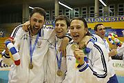 Almeria, 01/07/2005<br /> Finale Giochi del Mediterraneo Almeria 2005<br /> Premiazione Italia<br /> tomas ress, jacopo giachetti