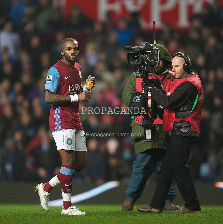 BIRMINGHAM, ENGLAND - Saturday, January 22, 2011: Aston Villa's new signing Darren Bent makes his debut during the Premiership match against Manchester City at Villa Park. (Photo by David Rawcliffe/Propaganda)