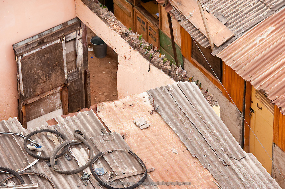 A view of rooftops in Nima, Accra.