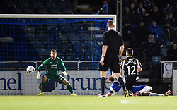Rob Ramshaw scores for Gateshead against Bristol Rovers - Photo mandatory by-line: Paul Knight/JMP - Mobile: 07966 386802 - 19/12/2014 - SPORT - Football - Bristol - The Memorial Stadium - Bristol Rovers v Gateshead - Vanarama Conference