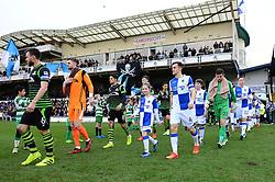 Mascot walk out - Mandatory by-line: Dougie Allward/JMP - 23/12/2017 - FOOTBALL - Memorial Stadium - Bristol, England - Bristol Rovers v Doncaster Rovers - Skt Bet League One