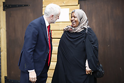 © Licensed to London News Pictures. 08/06/2017. London, UK. Labour leader JEREMY CORBYN votes at the general election in Finsbury Park, north London on 8 June 2017. Photo credit: Tolga Akmen/LNP