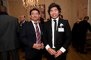 GEORGE LEE; LOUIS LAI, Streetsmart Reception at 11 Downing St. London. 1 November 2011. <br /> <br />  , -DO NOT ARCHIVE-© Copyright Photograph by Dafydd Jones. 248 Clapham Rd. London SW9 0PZ. Tel 0207 820 0771. www.dafjones.com.