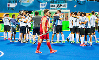 RIO DE JANEIRO  -  Olympic  Final hockey men, Belgium-Argentina (2-4) .  Disappointed Belgium player Tom Boon (Belg.)  after the losing to Argentina. COPYRIGHT KOEN SUYK
