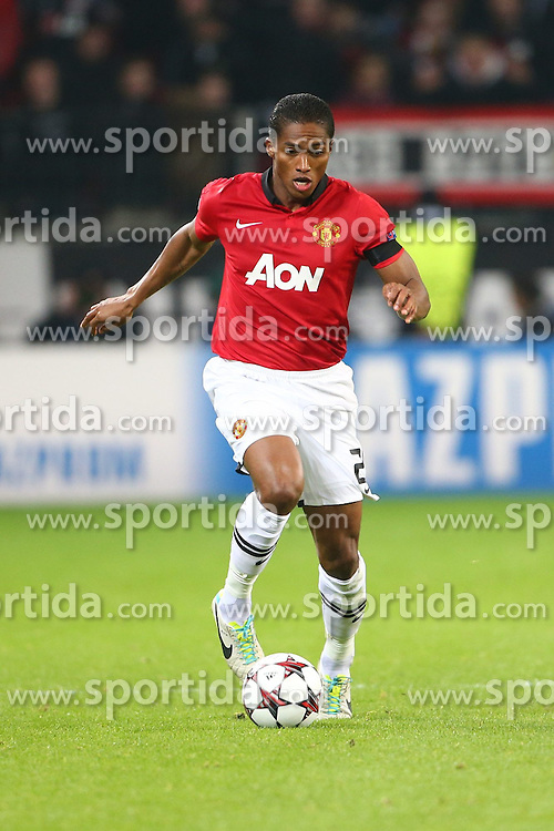 27.11.2013, BayArena, Leverkusen, GER, UEFA CL, Bayer Leverkusen vs Manchester United, Gruppe A, im Bild Antonio Valencia (Manchester United), Freisteller, Aktion /Action // during UEFA Champions League group A match between Bayer Leverkusen vs Manchester United at the BayArena in Leverkusen, Germany on 2013/11/28. EXPA Pictures &copy; 2013, PhotoCredit: EXPA/ Eibner-Pressefoto/ Neis<br /> <br /> *****ATTENTION - OUT of GER*****