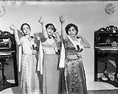 1953 - Indian village dance scenes at Rathmines