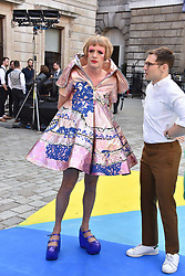 Grayson Perry and Erdem Moralioglu at the Royal Academy Of Arts Summer Exhibition Preview Party 2018 held at The Royal Academy, Burlington House, Piccadilly, London, England. 06 June 2018.