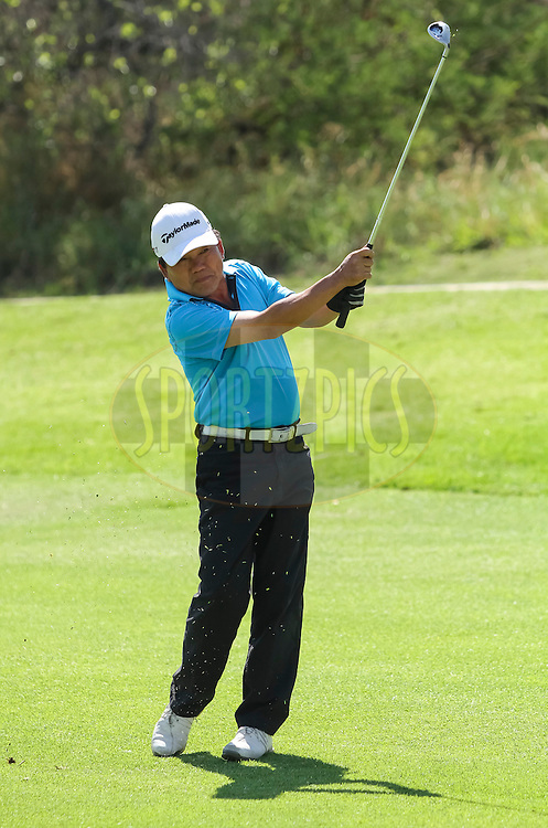 Kenneth Yeh during round one of the Sanlam Cancer Challenge Finals 2012 held at The Lost City Golf Course at Sun City on the 22nd October 2012...Photo by Dominic Barnardt/SPORTZPICS