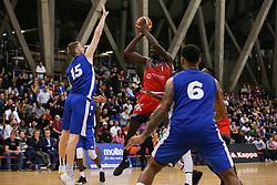 Daniel Edozie of Bristol Flyers shoots at the basket - Photo mandatory by-line: Arron Gent/JMP - 28/09/2019 - BASKETBALL - Crystal Palace National Sports Centre - London, England - London City Royals v Bristol Flyers - British Basketball League Cup
