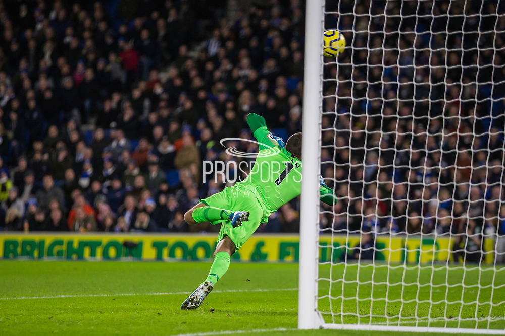 Mathew Ryan (GK) (Brighton) in action during the Premier League match between Brighton and Hove Albion and Wolverhampton Wanderers at the American Express Community Stadium, Brighton and Hove, England on 8 December 2019.