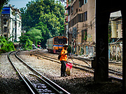13 SEPTEMBER 2018 - BANGKOK, THAILAND: along the main set of train tracks that leave Bangkok and go into the Thai provinces.     PHOTO BY JACK KURTZ