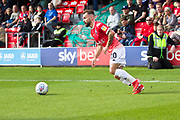Salford City midfielder Danny Lloyd in action during the EFL Sky Bet League 2 match between Salford City and Leyton Orient at Moor Lane, Salford, United Kingdom on 31 August 2019.