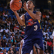 Rapper Daniel Dwayne Simmons III, better known by his stage name as Diggy Simmons attempts a lay up in first half of The 2015 Duffy's Hope Celebrity Basketball Game Saturday, August 01, 2015, at The Bob Carpenter Sports Convocation Center, in Newark, DEL.    <br /> <br /> Proceeds will benefit The Non-Profit Organization Duffy's Hope Youth Programming.