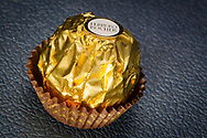 London, England - June 09, 2017: Ferrero Rocher Chocolate, Produced in Italy by Ferrero Spa since 1982.