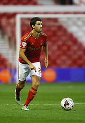 Eric Lichaj of Nottingham Forest in action - Mandatory byline: Jack Phillips / JMP - 07966386802 - 11/08/15 - FOOTBALL - The City Ground - Nottingham, Nottinghamshire - Nottingham Forest v Walsall - Football League Cup Round 1