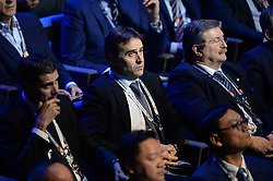 LAUSANNE, SWITZERLAND - Wednesday, January 24, 2018: Spain head coach Julen Lopetegui during the draw for the new UEFA Nations League tournament at the SwissTech Convention Centre. (Pic by Pool/UEFA/Propaganda)