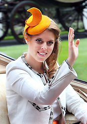 Image licensed to i-Images Picture Agency. 19/06/2014. Ascot, United Kingdom. Princess Beatrice arriving  at Ladies Day at Royal Ascot  Picture by Stephen Lock / i-Images