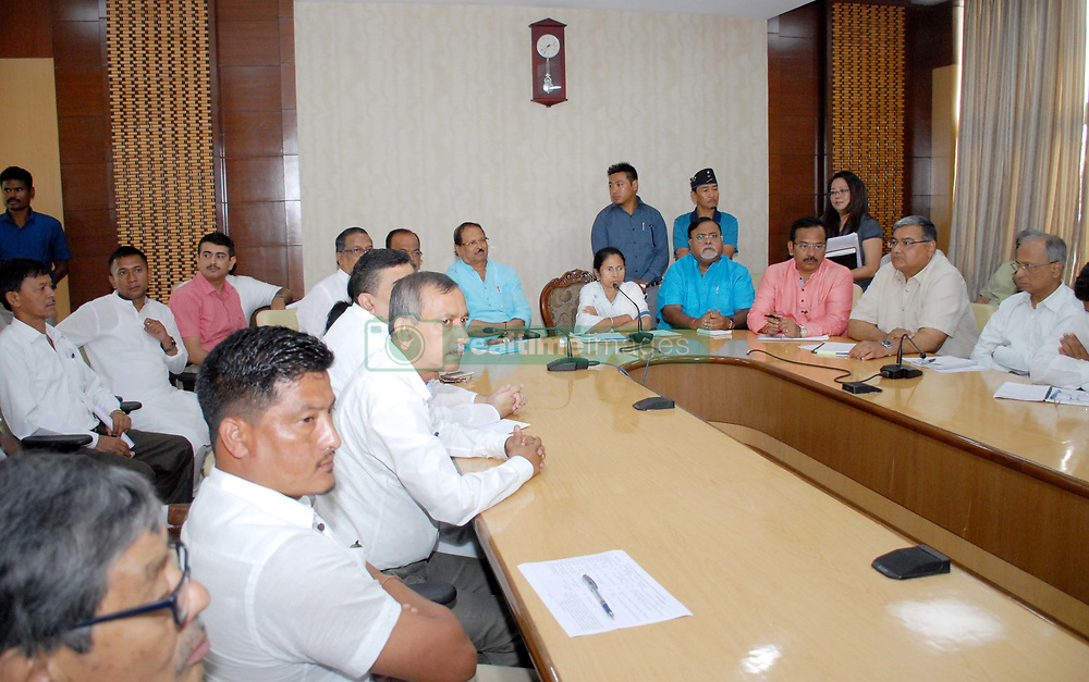June 17, 2017 - Kolkata, West Bengal, India - Mamata Banerjee Chief Minister of West Bengal call emergency admestrtive and Darjeeling hill areas different board members meeting to recent violence Darjeeling issue at State secretariat office Nabanna on June 17,2017 in Kolkata,India. (Credit Image: © Debajyoti Chakraborty/NurPhoto via ZUMA Press)