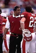 Arkansas Razorbacks vs. South Caroliina in Little Rock, Arkansas<br /> on Saturday Oct. 13, 2001.University of Arkansas Football Coaches during the 2001-2002 Season.
