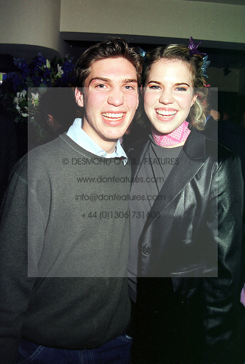 MR WILLIAM AITKEN and his sister MISS ALEXANDRA AITKEN children of disgrace former MP Jonathan Aitken, at a party in London on 30th March 2000.OCL 70<br /> © Desmond O'Neill Features:- 020 8971 9600<br />    10 Victoria Mews, London.  SW18 3PY  photos@donfeatures.com   www.donfeatures.com<br /> MINIMUM REPRODUCTION FEE AS AGREED.<br /> PHOTOGRAPH BY DOMINIC O'NEILL