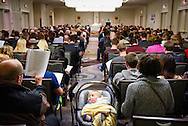 8-month-old Grace Libby eyes the pre-march Divine Service Thursday, Jan. 22, 2015, at the Hilton in Crystal City, Va. LCMS Communications/Erik M. Lunsford
