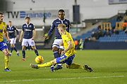 Birmingham City defender Kristian Pedersen (3) clears the ball during the EFL Sky Bet Championship match between Millwall and Birmingham City at The Den, London, England on 28 November 2018.