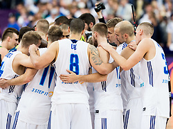Players of Finland after the basketball match between National Teams of Finland and Slovenia at Day 3 of the FIBA EuroBasket 2017 at Hartwall Arena in Helsinki, Finland on September 2, 2017. Photo by Vid Ponikvar / Sportida
