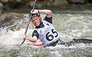 in action in the mens K1 final, NZ Open kayaking, Managhao, New Zealand. Sunday, January 22, 2017. Copyright photo: John Cowpland / www.photosport.nz
